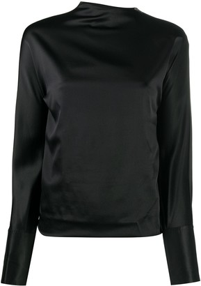 Helmut Lang Long-Sleeved Satin Blouse