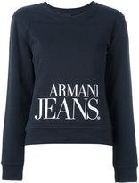 Armani Jeans printed logo sweatshirt - women - Cotton/Polyester - 42
