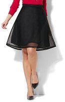 New York & Co. Mesh-Overlay Circle Skirt