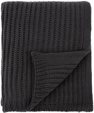 Catherine Lansfield Soft Touch Knitted Throw - Charcoal