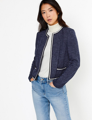 Marks and Spencer Jersey Slim Fit Edge To Edge Blazer