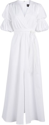 New York & Co. White Puff-Sleeve Maxi Dress - Gabrielle Union Collection