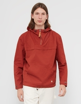 Armor Lux Heritage Hooded Fisherman's Smock Jacket Red