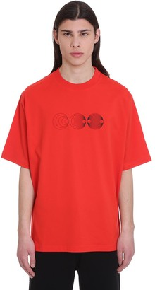 Marcelo Burlon County of Milan Poster Over T-shirt In Red Cotton
