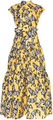 Carolina Herrera floral print tiered gown