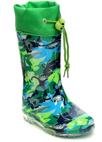 Jelly Beans Green Jungle Monkey Rain Boot
