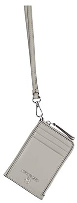 MICHAEL Michael Kors Jet Set Charm Small Id Lanyard (Pearl Grey) Coin Purse