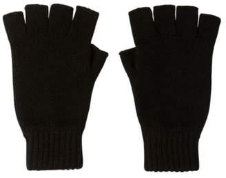 Johnstons of Elgin Black Fingerless Cashmere Gloves