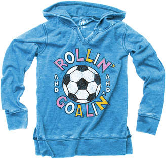 Wes And Willy Wes Willy Soccer Burn Out Hooded V-Neck Pullover