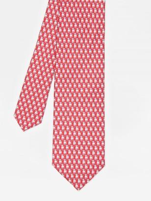 J.Mclaughlin Italian Silk Tie in Baby Beagle