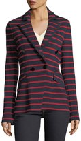 Veronica Beard Fontana Striped Double-Breasted Jacket