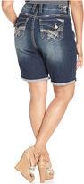 Hydraulic Plus Size Lola Bermuda Denim Shorts, Medium Wash