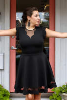 Ted Baker Scalloped Black Dress