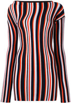 Jacquemus striped knitted mini dress