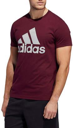 adidas Athletic Mens Crew Neck Short Sleeve T-Shirt