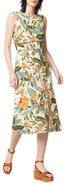 Warehouse WarehouseTropical Garden Tie Back Dress, Neutral Print