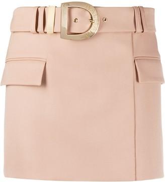Balmain Short Belted Skirt