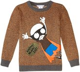 Little Marc Jacobs Knitted Sweater (Toddler/Kid) - Jaune/Orange - 2A