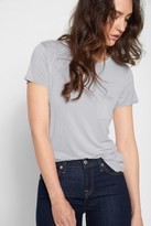 7 For All Mankind Crew Neck Tee In Light Grey
