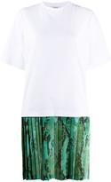 MSGM pleated skirt T-shirt dress