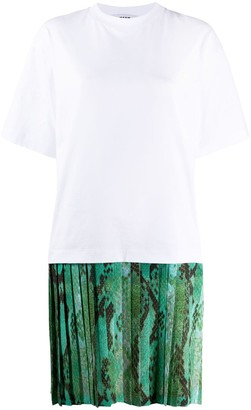 MSGM pleated skirt T-shirt dress