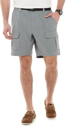 Croft & Barrow Big & Tall Belted Ripstop Cargo Shorts