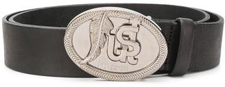 Just Cavalli Logo Embellished Buckle Belt