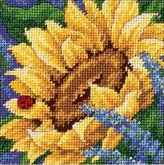 Dimensions Needlepoint, Sunflower and Ladybug