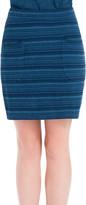 Max Studio indigo striped piquÈ skirt