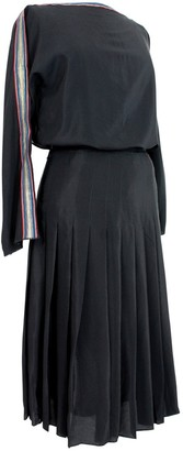 Genny Black Silk Skirt for Women Vintage