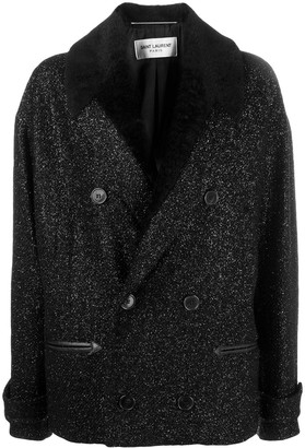 Saint Laurent Double-Breasted Boucle Jacket