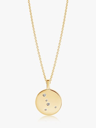 Sif Jakobs Jewellery Zodiaco Cancer Cubic Zirconia Round Pendant Necklace