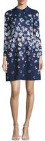Erin Fetherston Collared Floral Cocktail Dress, Navy/Multicolor