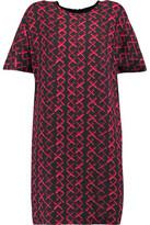 MSGM Printed Crepe Mini Dress