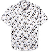 Club Monaco Button-down Collar Floral-print Cotton-poplin Shirt - Multi