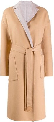 Loro Piana belted single-breasted coat