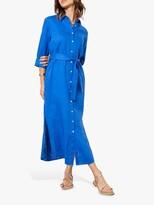 Thumbnail for your product : Mint Velvet Linen Midi Shirt Dress, Blue
