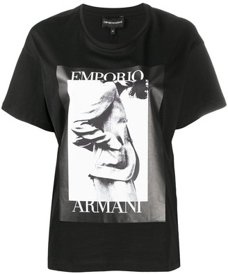 Emporio Armani photographic logo print T-shirt