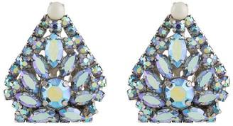 Susan Caplan Vintage 1950s Crystal-Embellished Double Brooch