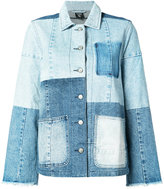 PRPS patchwork denim jacket - women - Cotton - XS