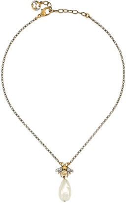 Gucci Bee necklace with pearl