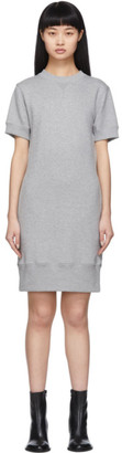Sacai Grey Cut-Out Sweat Dress