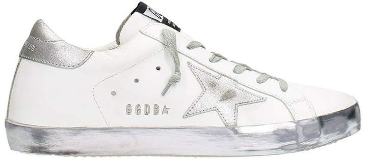 Golden Goose Superstar Sparkle White Leather Sneakers