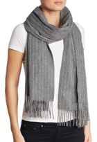 Rag & Bone Brushed Pinstripe Wool-Felt Scarf