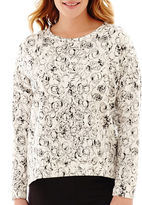 Liz Claiborne Long-Sleeve High-Low Sweatshirt