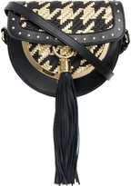 Balmain woven Domaine 18 shoulder bag - women - Calf Leather - One Size