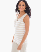 Chico's Striped Tie-Front Tank