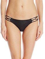 Pilyq Women's Onyx Braided Full Bikini Bottom
