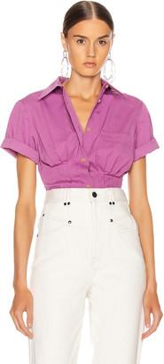 Isabel Marant Gramy Shirt in Fuchsia | FWRD