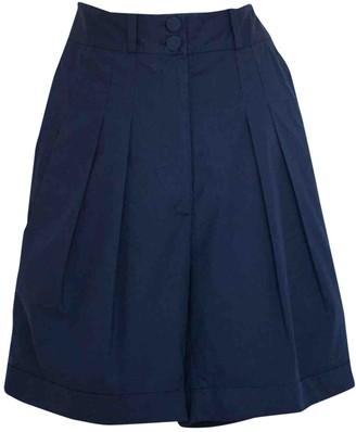 Richard Nicoll Navy Cotton Shorts for Women